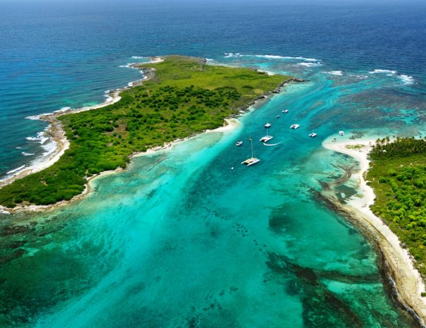 Caraïbes Antilles Françaises Guadeloupe Vues aériennes Les Ilets de Petite Terre